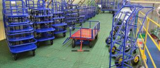 Промышленная поворотная колёсная опора - необходимая часть комплектации тележек на производствах