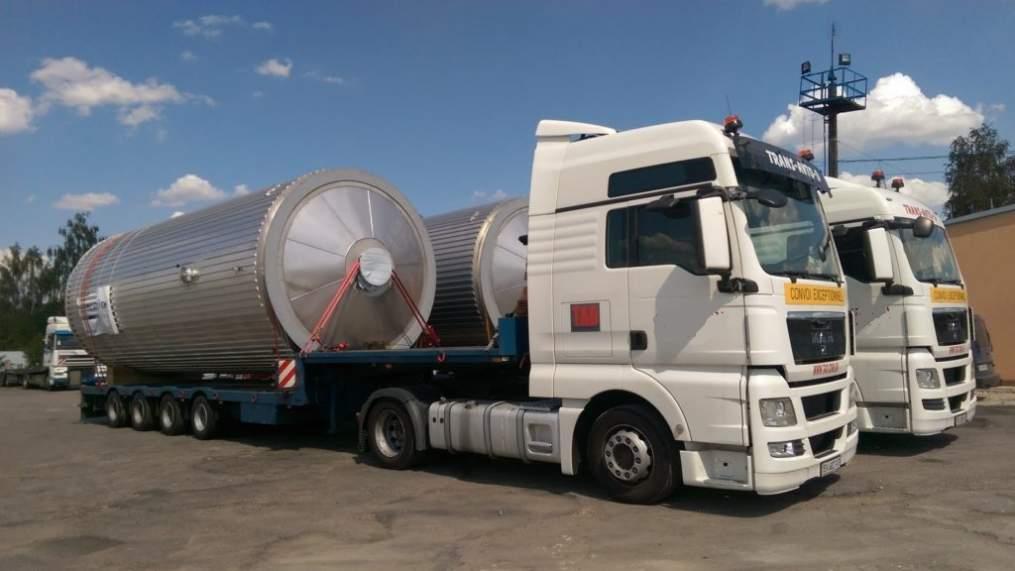 Перевозка промышленных ёмкостей и нестандартных грузов
