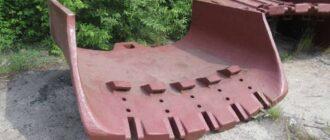 Передняя стенка ковша ЭКГ-5А и ее особенности