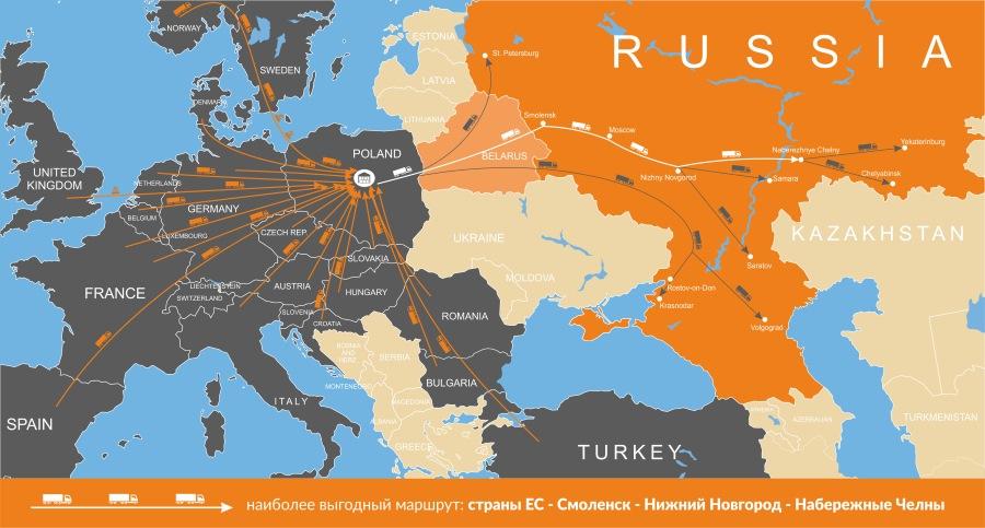 Доставка грузов из Европы в Россию